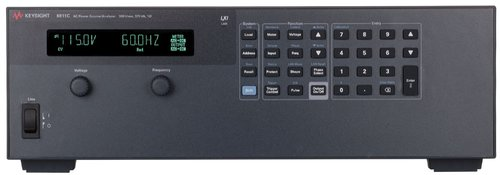 Keysight 6811C AC source/analyzer, 0-300 Vrms, 375 VA, single-phase. USB,LAN,GPIB,RS-232.