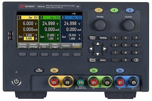 Keysight E36312A 80W Triple Output Power Supply, 6V, 5A & 2X 25V, 1A